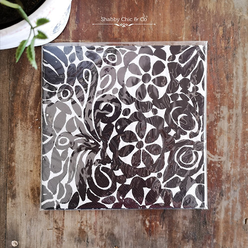 Decoupage Paper Napkins (pkt of 2) - Black and White