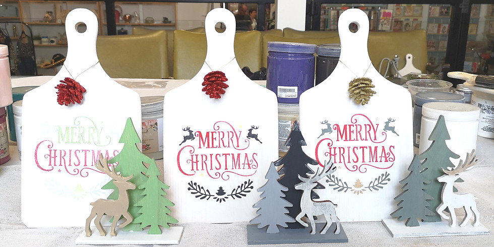 Sunday - Small Xmas Sign & 3 Little Amigos Painting Workshop