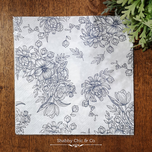 Decoupage Paper Napkins (pkt of 2) -  Blooming