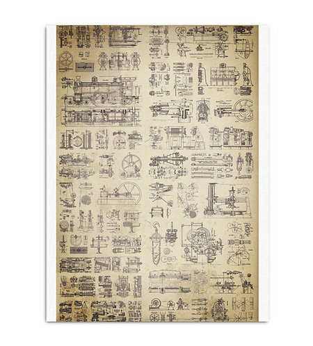 Stag Sphemera - Decoupage Tissue Paper
