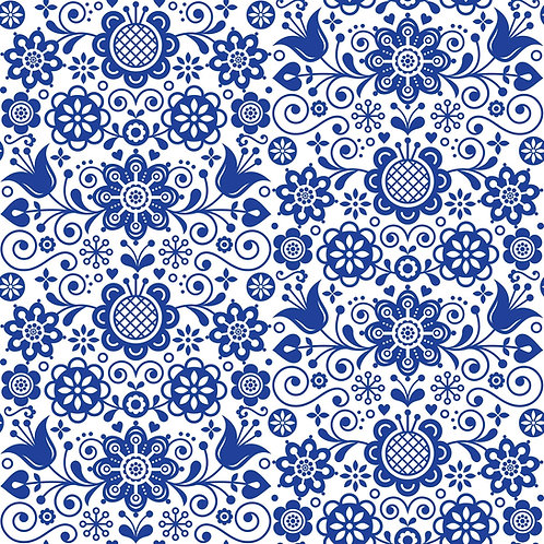 Blue Glass Ornate Rice Papers (pkt of 3)- Belles and Whistles by Dixie Belle