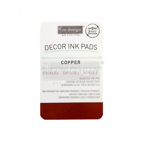 REDESIGN DECOR INK PAD – COPPER – MAGNETIC INK PAD