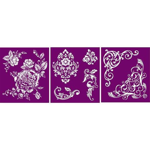Floral Silkscreen Stencil - Belles and Whistles by Dixie Belle