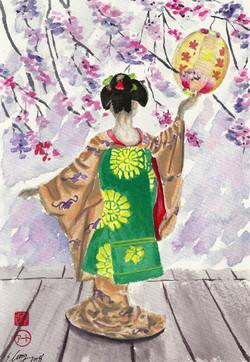 Evening Blossoms Geisha
