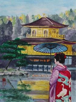 Geisha at Kinkakuji