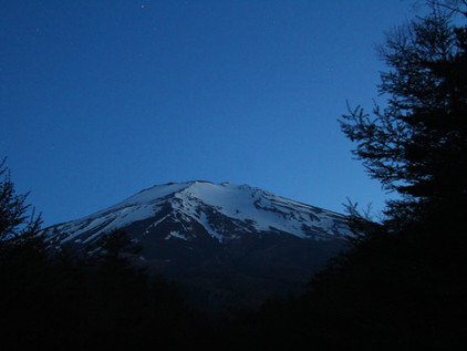 Mt Fuji and the stars
