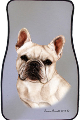 White French Bulldog Best of Breed Car Mats (set of 2)