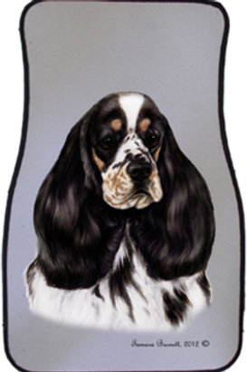 Tricolor Cocker Spaniel Best of Breed Car Mats (set of 2)