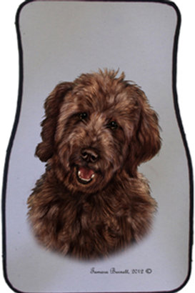 Chocolate Golden Doodle Best of Breed Car Mats (set of 2)