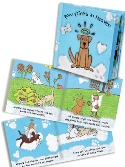 Paw Prints in Heaven - Sympathy Book