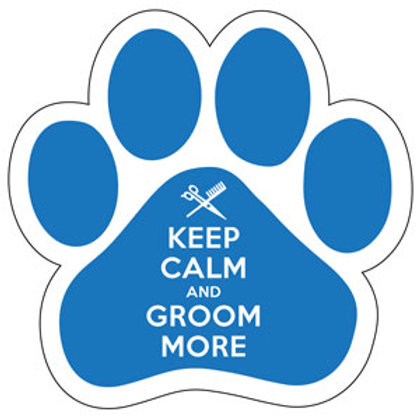 Keep Calm and Groom More Magnet (Blue)