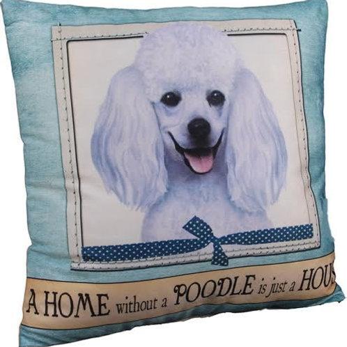 White Poodle Super Soft Pillow