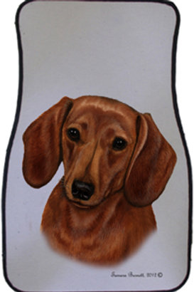 Red Dachshund Best of Breed Car Mats (set of 2)