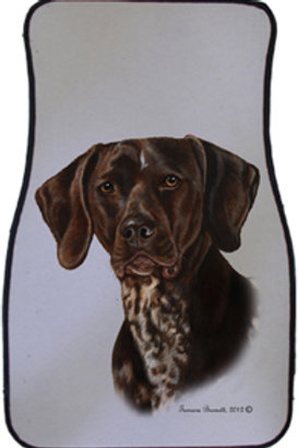 German Shorthair Pointer Best of Breed Car Mats (set of 2)