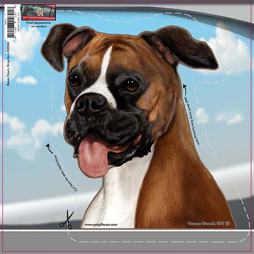 Boxer (Uncropped) - Dogs On The Move Window Decal