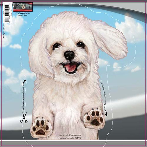 Maltipoo - Dogs On The Move Window Decal