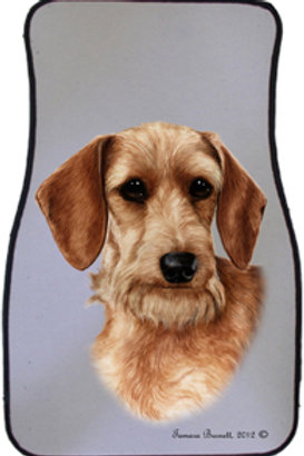 Wheaten Wirehair Dachshund Best of Breed Car Mats (set of 2)