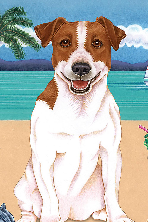 Jack Russell -Terry Velour Microfiber Beach Towel