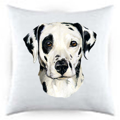 Dalmatian Dog Portrait Satin Throw Pillow