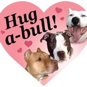 Pitbull - Hug a Bull Heart Magnet