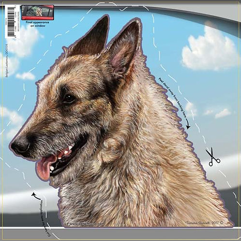 Belgian Laekenois - Dogs On The Move Window Decal
