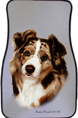 Red Australian Sheperd Best of Breed Car Mats (set of 2)