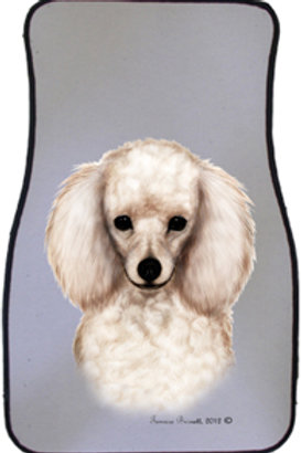 White Poodle Best of Breed Car Mats (set of 2)