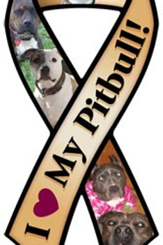 Pitbull Ribbon Magnet