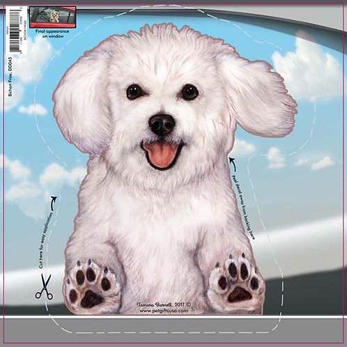 Bichon Frise - Dogs On The Move Window Decal