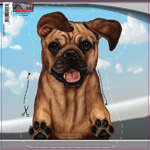 Puggle - Dogs On The Move Window Decal