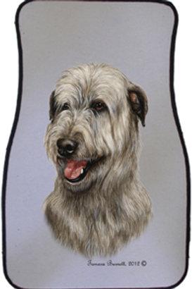 Irish Wolfhound Best of Breed Car Mats (set of 2)