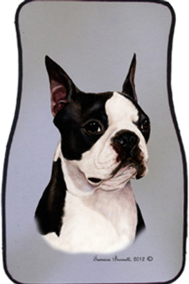 Boston Terrier Best of Breed Car Mats (set of 2)