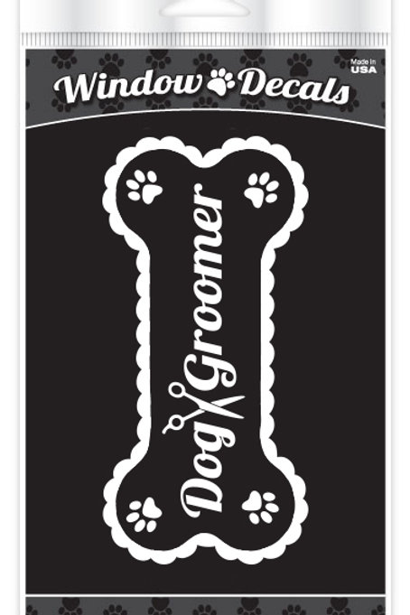 Dog Groomer Bone Window Cling