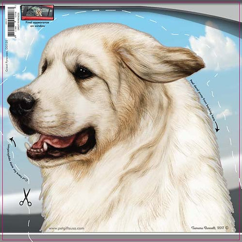 Great Pyrenees - Dogs On The Move Window Decal