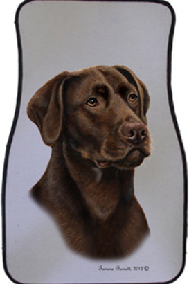 Chocolate Lab Best of Breed Car Mats (set of 2)