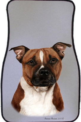 Pit Bull Terrier Best of Breed Car Mats (set of 2)`