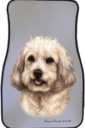 White Cockapoo Best of Breed Car Mats (set of 2)