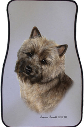 Brindle Cairn Terrier Best of Breed Car Mats (set of 2)