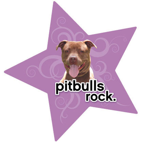 Pitbulls Rock Magnet