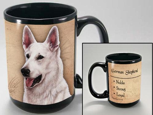 German Sheperd White - My Faithful Friend Mug