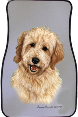 Blond Golden Doodle Best of Breed Car Mats (set of 2)