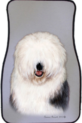 Old English Sheep Dog Best of Breed Car Mats (set of 2)