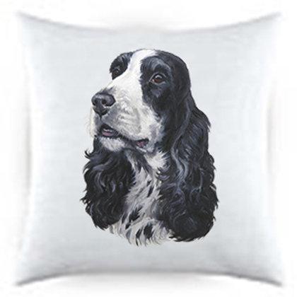 English Cocker Spaniel Dog Portrait Satin Throw Pillow