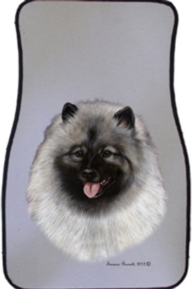 Keeshond Best of Breed Car Mats (set of 2)