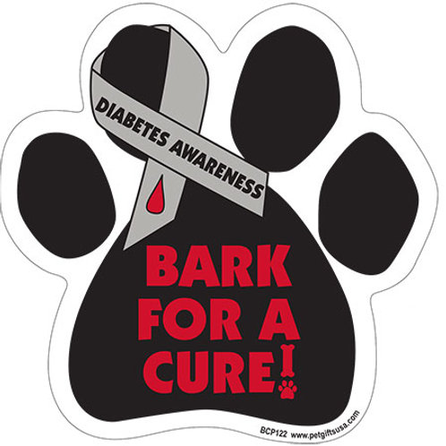 Bark For A Cure - Diabetes Disease Awareness Magnet