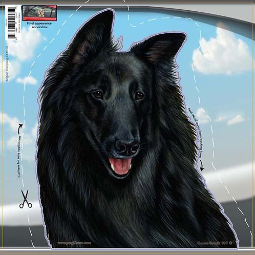 Belgian Sheepdog - Dogs On The Move Window Decal