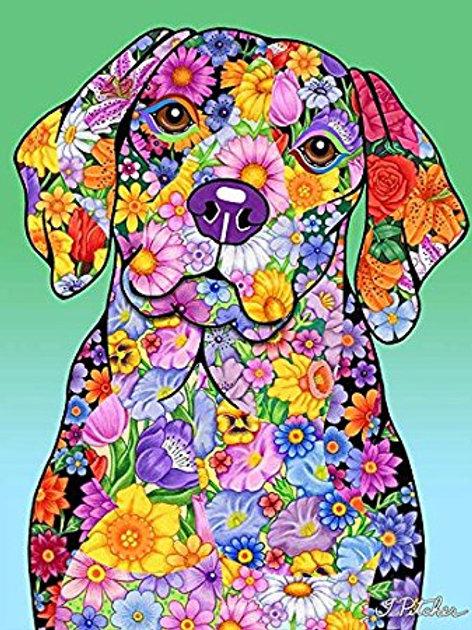 Beagle - Flowers Design Garden FBeagle - Best of Breed Flowers Design House Flag
