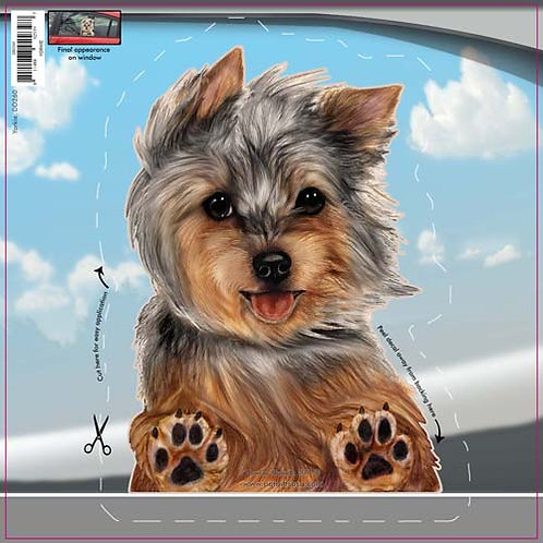 Yorkie - Dogs On The Move Window Decal