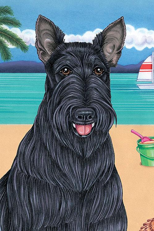 Scottie -Terry Velour Microfiber Beach Towel