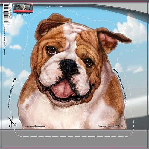 English Bulldog - Dogs On The Move Window Decal